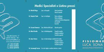 Medici Specialisti e Listino prezzi - FISIOMED