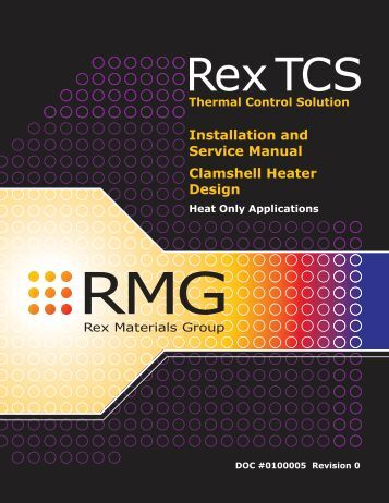 Installation & Service Manual - Rex Materials Group