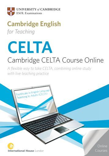 research on celta The training can take two to four semesters of full-time study at an accredited   neither the celta nor an independent tefl certificate alone is sufficient.