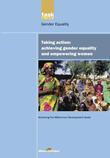 Taking action: achieving gender equality and empowering women