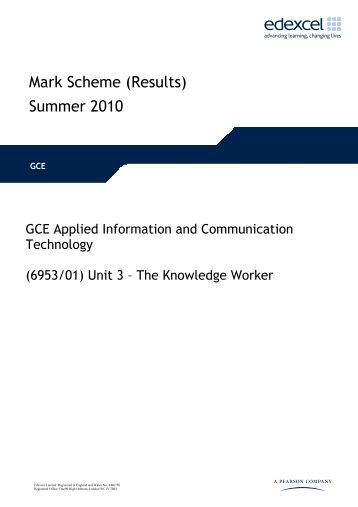 applied ict unit 1 coursework Wjec unit 4 exemplar and there is an excellent unit 2 as coursework exemplar on there but i wondered if anyone knew if applied ict unit 7 6957.