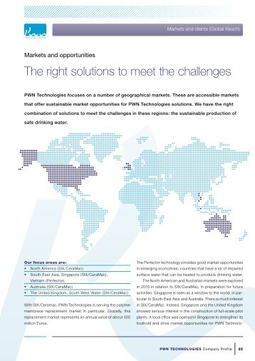 The right solutions to meet the challenges - PWN Technologies