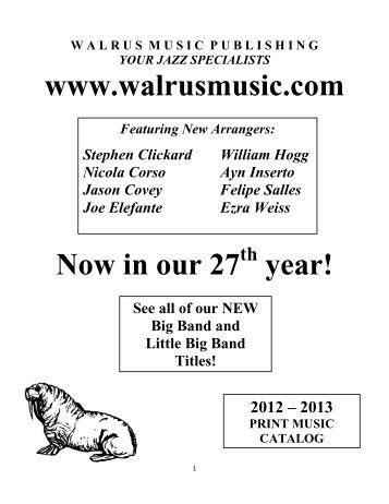 Walrus Music Catalog