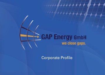 Corporate Profile - GAP Energy GmbH