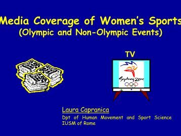 Media Coverage of Women's Sports - EWS European Women and ...