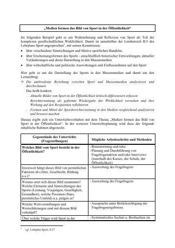 """""""Medien formen das Bild von Sport in der ... - Schulsport-NRW"""