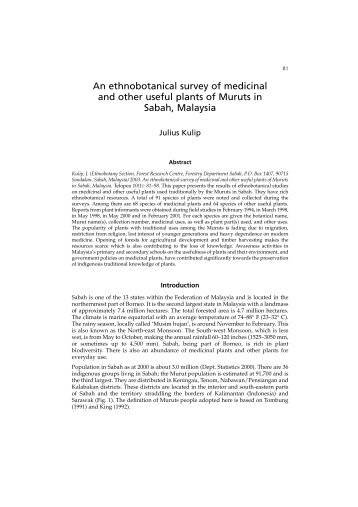 An ethnobotanical survey of medicinal and other useful plants of ...