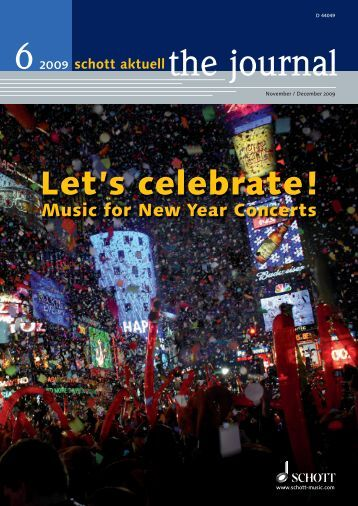 Let's celebrate! - Schott Music