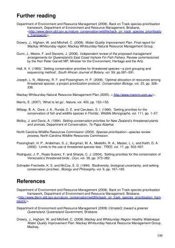Mackay Whitsunday Natural Resource Management Region - Back ...