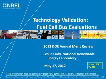 Technology Validation: Fuel Cell Bus Evaluations - DOE Hydrogen ...