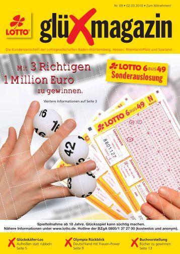 Mit 3 Richtigen 1 Million Euro Mit 3 Richtigen 1 Million ... - SAARTOTO