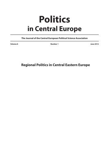 Number 1 - June - 2012 - Politics in Central Europe