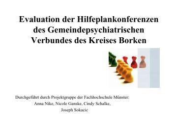 Evaluation der Hilfeplankonferenzen des ... - Kreis Borken