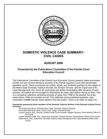 Florida dating violence civil injunction law