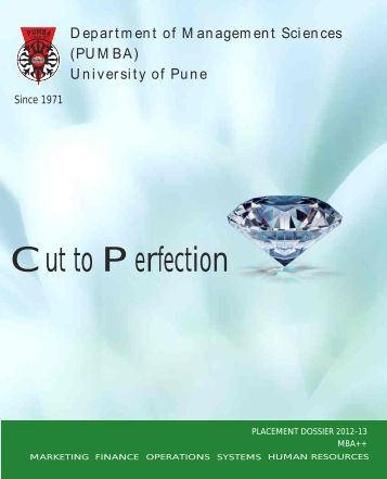 Download Placement Brochure 2012-13 - PUMBA