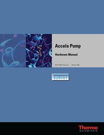 Accela Pump Hardware Manual