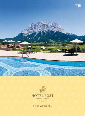 POST ALPINE SPA - Download brochures from Austria - Austria.info