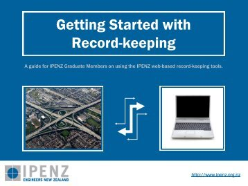 Competence Development Record Keeping Tutorial - Ipenz
