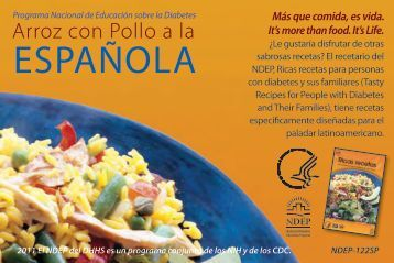 National Diabetes Education Program - Arroz con Pollo Receta tarjeta