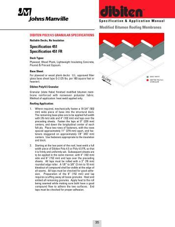 Sbs Modified Bitumen Specifications Johns Manville