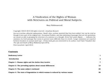 A Vindication of the Rights of Woman with - Early Modern Texts