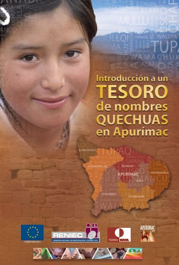 introducción a un tesoro de nombres quechuas ... - Terra Nuova Perú