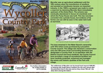 Wycoller Country Park village map sheet 10 - Malkin Tower Farm ...