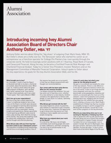 Alumni Association - Richard Ivey School of Business