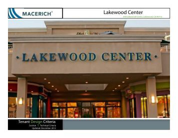 Lakewood Center Technical Criteria Manual - Macerich