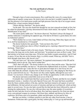 short stories and death Life gives each of us endless possibilities to be happy and free so let's enjoy it to the fullest and never forget to feel thankful for being alive, unlike a girl in this short story about death and life.