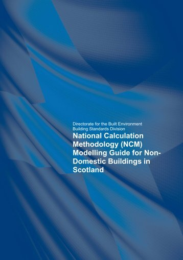 National Calculation Methodology (NCM) - Scottish Government