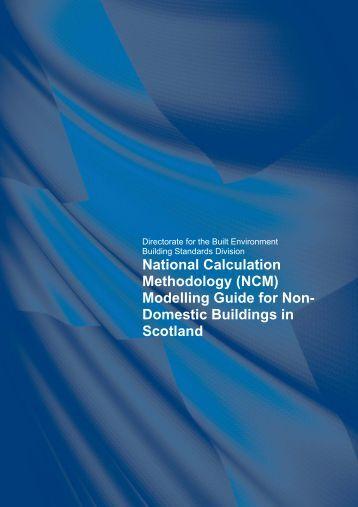 National Calculation Methodology (NCM) - Scottish Government