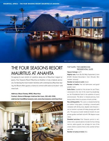 the four seasons resort mauritius at anahita - Elite Traveler