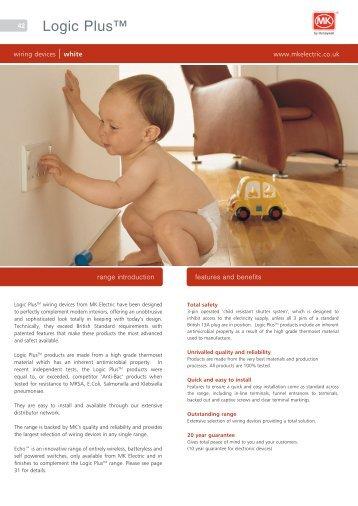MK Logic Plus Catalogue (PDF) - MK Electric