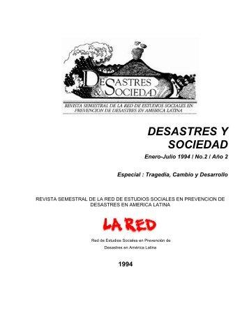 Historia y Desastres en América Latina (Volumen I) - La RED