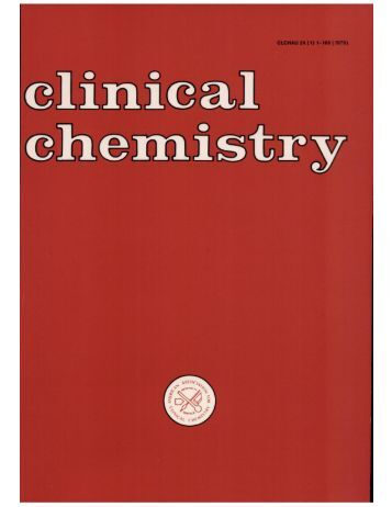 Analytical Techniques for Clinical Chemistry Methods and Applications