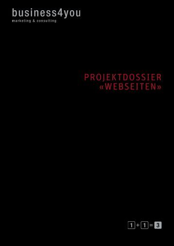 Projektdossier «Webseiten» - business4you