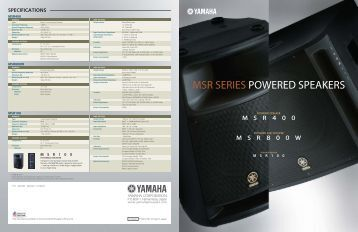 Active speaker system srs a212 for Yamaha commercial audio