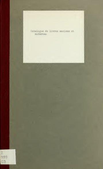 Catalogue de livres anciens et modernes, pièces ... - Index of