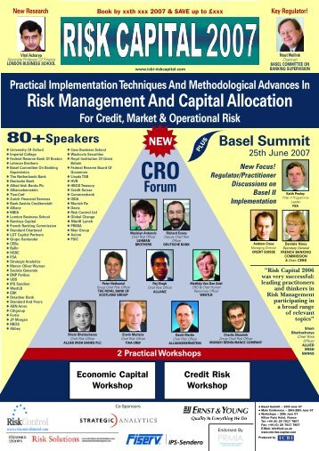 Risk Management And Capital Allocation - Strategic Analytics