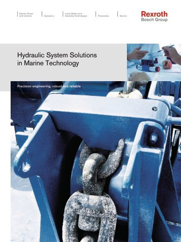 Hydraulic System Solutions in Marine Technology - Bosch Rexroth