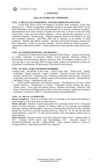 thesis of inorganic chemistry Inorganic & organometallic the inorganic chemistry research area of the department of chemistry and biochemistry at the university of california at santa barbara performs cutting-edge research that spans the entire inorganic disipline.