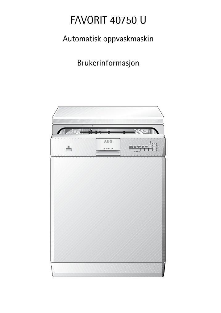 User manual electrolux dishwasher