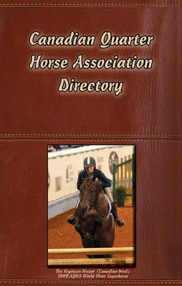 2010 CQHA Breeders Directory - Canadian Quarter Horse Association