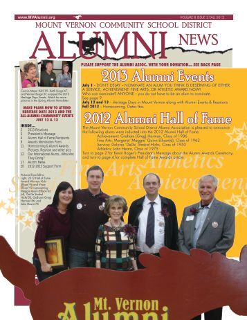 Fine ArtsAthletics Achievement Service - Alumni Association