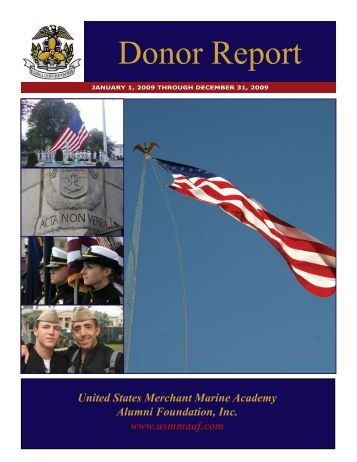 Donor Report - USMMA Alumni Association and Foundation