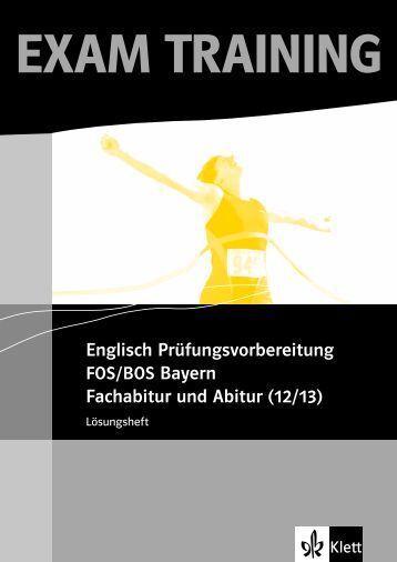 Englisch Prüfungsvorbereitung Fachabitur und ... - Ernst Klett Verlag