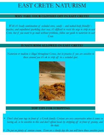 EAST CRETE NATURISM - East Crete magazine