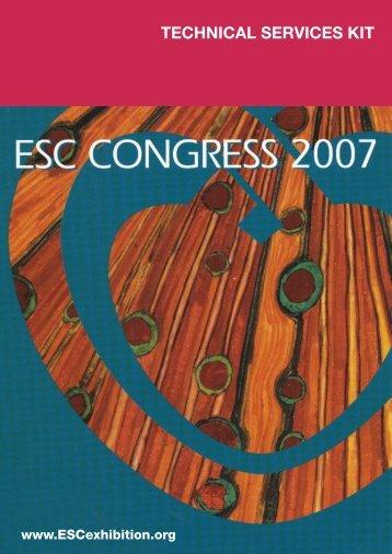 Exhibitor Technical Catalogue - ESCexhibition.org, as