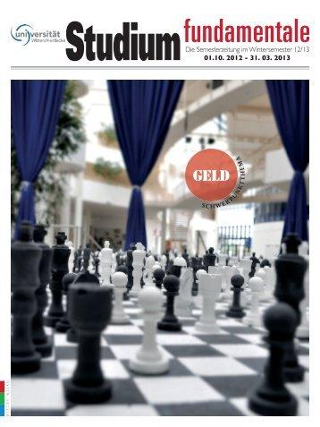 zur Stufu-Zeitung - Universität Witten/Herdecke